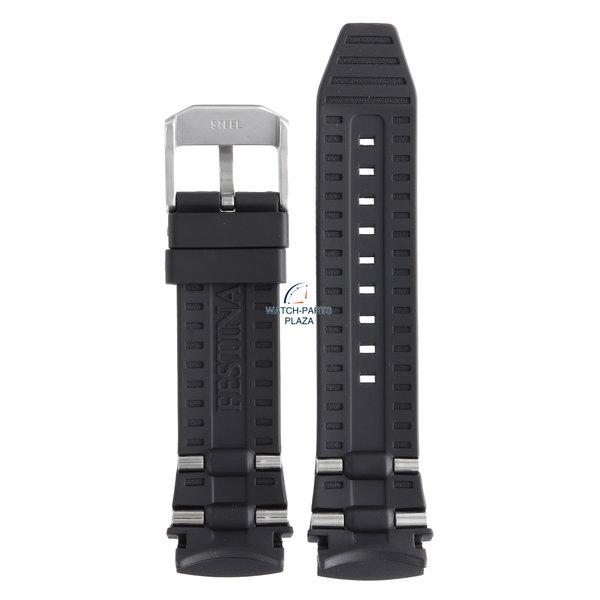 Festina Festina BC06955 Horlogeband F16528 zwart rubber / siliconen 25 mm - Chrono Bike