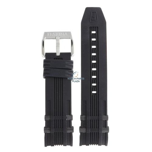 Festina Festina BC07560 Watch band F16543, F16562 black rubber / silicone 26 mm - Chrono Bike & Tour De France