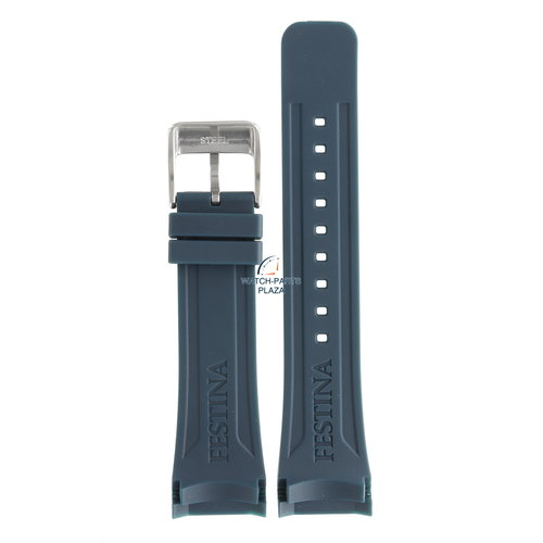 Festina Festina BC08192 Watch band F16642/2 blue rubber / silicone 24 mm - Ceramic