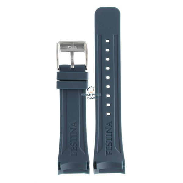 Festina Festina BC08192 Horlogeband F16642/2 blauw rubber / siliconen 24 mm - Ceramic