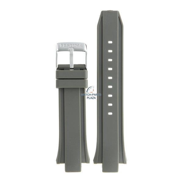 Festina Festina BC08239 Horlogeband F16667/2 grijs rubber / siliconen 13 mm - Chronograph