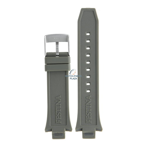 Festina Festina BC08239 Watch band F16667/2 grey rubber / silicone 13 mm - Chronograph