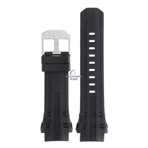 Festina Festina BC07862 Horlogeband F16602 zwart rubber / siliconen 23 mm - Chrono Bike