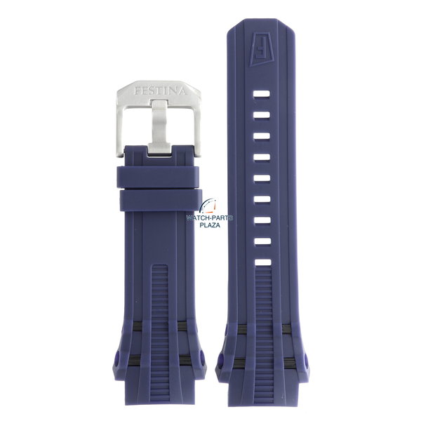 Festina Festina BC07861 Horlogeband F16601/1 blauw rubber / siliconen 23 mm - Chrono Bike
