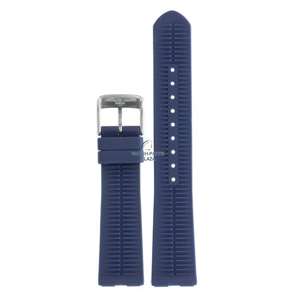Festina Festina BC08213 Watch band F16635/1, F16636/3 blue rubber / silicone 21 mm - Set & Schalke 04
