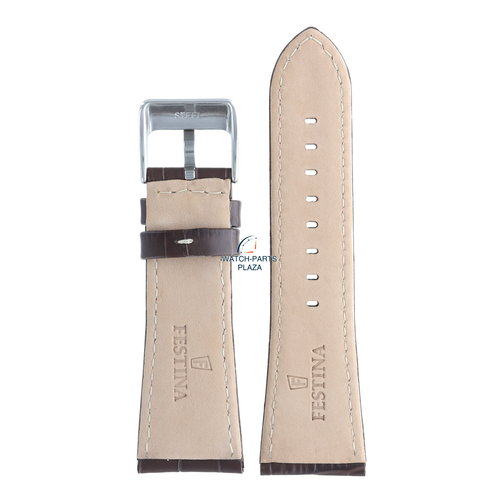 Festina Festina BC05459 Watch band F16235 brown leather 28 mm - Multifunction