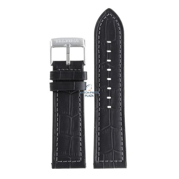 Festina Festina BC08231 Horlogeband F16673 zwart leer 25 mm - Chronograph