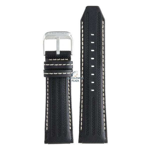 Festina Festina BC06956 Watch band F16489 black leather 25 mm - Chronograph