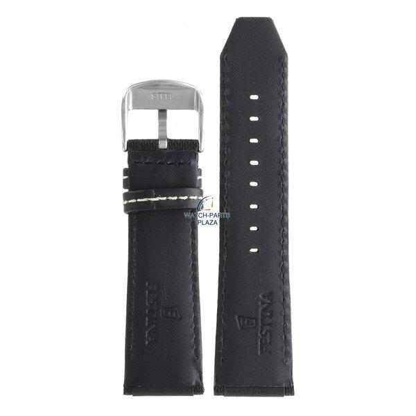 Festina Festina BC06956 Horlogeband F16489 zwart leer 25 mm - Chronograph