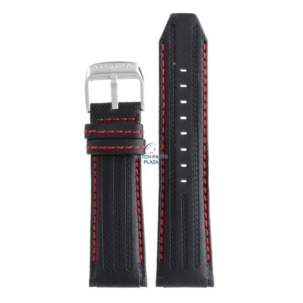 Festina Festina BC06957 Horlogeband F16489/5 zwart leer 25 mm - Chronograph