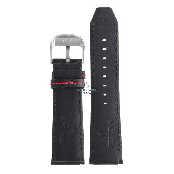 Festina Festina BC06957 Watch band F16489/5 black leather 25 mm - Chronograph