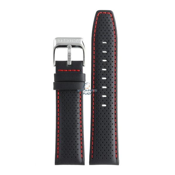 Festina Festina BC07957 Watch band F16585/7, F16585/8 black leather 23 mm - Sport
