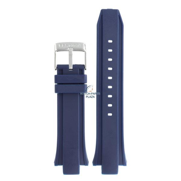 Festina Festina BC08238 Horlogeband F16667/1, F16667/T blauw rubber / siliconen 13 mm - Chronograph