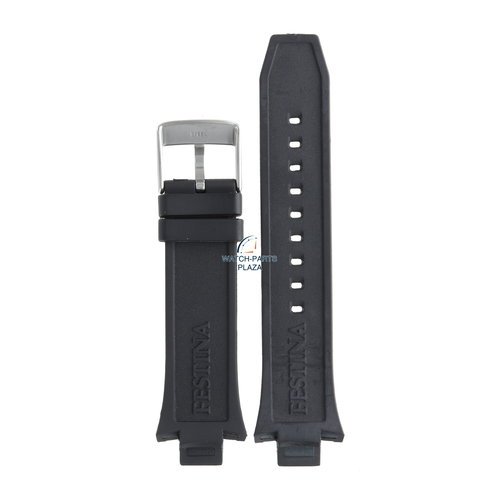 Festina Festina BC08243 Horlogeband F16667/6 zwart rubber / siliconen 13 mm - Chronograph
