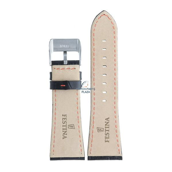 Festina Festina BC05460 Watch band F16235/3, F16235/8, F16235/9 black leather 28 mm - Multifunction
