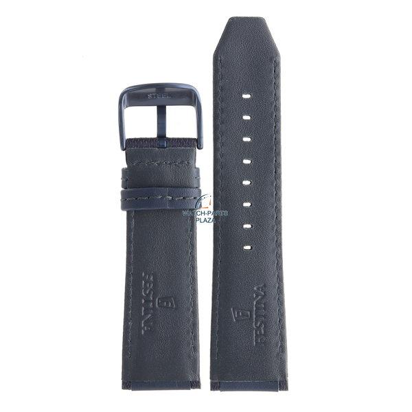Festina Festina BC09318 Watch band F16898 dark blue leather 25 mm - Sport / Prestige