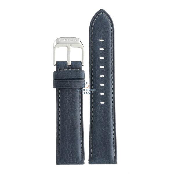 Festina Festina BC08043 Cinturino dell'orologio F16629 blu scuro pelle 22 mm - Retrograde