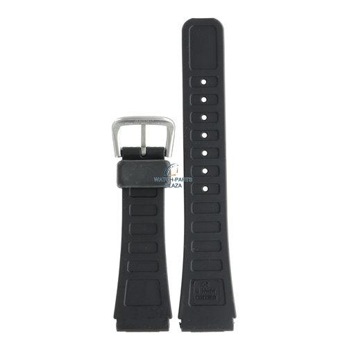 Seiko Seiko BRA04S Horlogeband A904 5090, 5200 & D409 Zwart Rubber / siliconen 20 mm - Sports 100