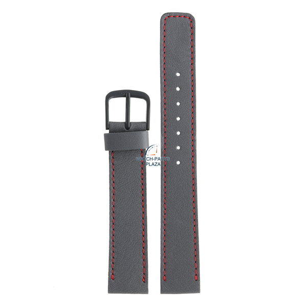 Seiko Seiko BMZ15D Watch band 5P30 5150 / 5159 grey leather 16 mm - Quartz