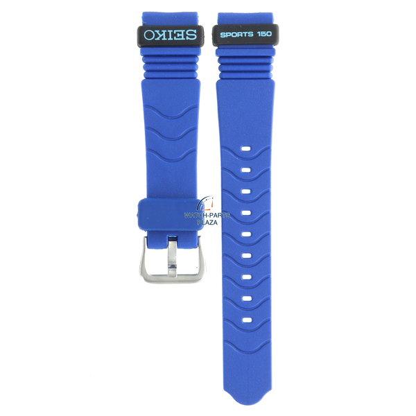 Seiko Seiko BPZ66J Cinturino dell'orologio SGH047 - 7N33 6A30 blu gomma / silicone 18 mm - Sports 150