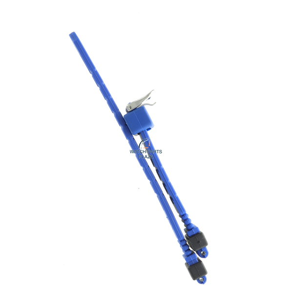 Seiko Seiko BPZ66J Watch band SGH047 - 7N33 6A30 blue rubber / silicone 18 mm - Sports 150