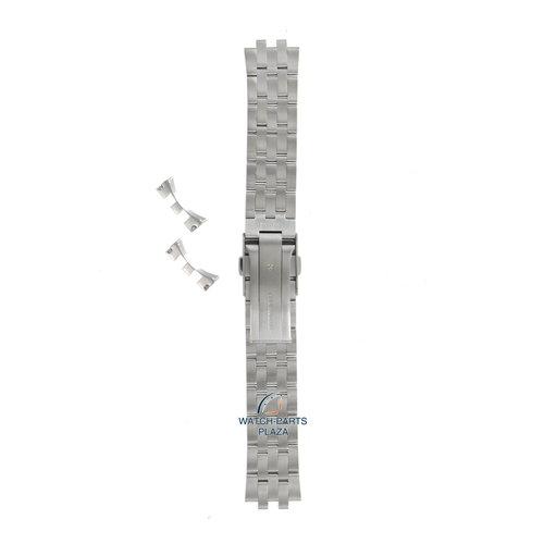 Seiko Seiko D322AG Pulseira de relógio SCVS011 - 6R15 00B0 cinza aço inoxidável 20 mm - Spirit