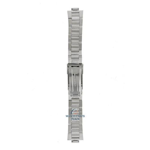Seiko Seiko 48T8JG Pulseira de relógio SKJ, SMY - 5M43 & 5M63 cinza aço inoxidável 10 mm - Kinetic