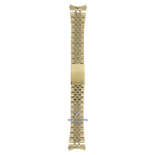 Seiko Seiko G1341G Cinturino dell'orologio 7009 & 7S26 d'oro acciaio inossidabile 20 mm - 5