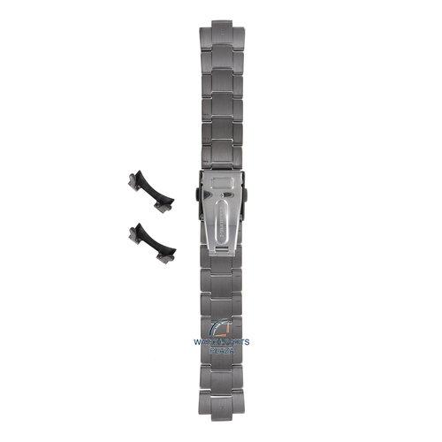 Seiko Seiko M0EA421N0-L Horlogeband SSB141 - 6T63 & 8T68 Zwart Roestvrijstaal 20 mm - Quartz Chronograph