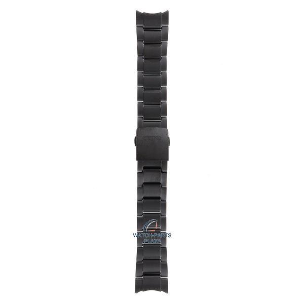 Seiko Seiko M0ESA64M0 Cinturino dell'orologio SSF005 - 8X22 0AC0 GPS nero acciaio inossidabile 22 mm - Sportura Solar