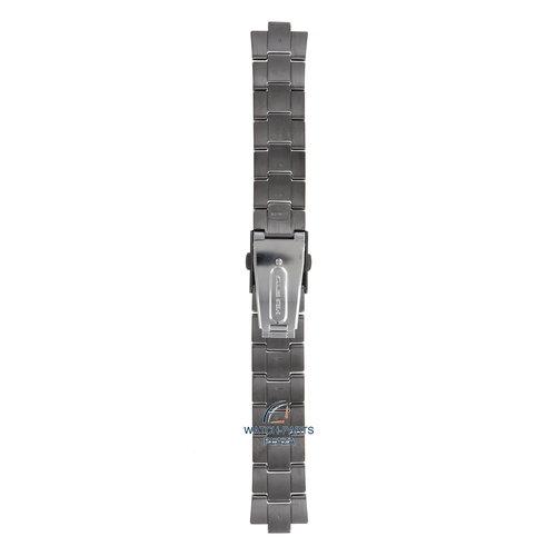 Seiko Seiko M01M411N0-L Pulseira de relógio SSB131 - 6T63 Gun Metal preto aço inoxidável 20 mm - Sports