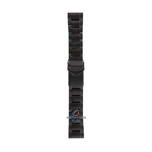 Seiko Seiko M0ES124M0 Pulseira de relógio SRP449 - 4R35 00F0 preto aço inoxidável 22 mm - Superior