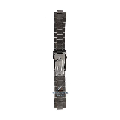 Seiko Seiko M0KWB13N0 Cinturino dell'orologio SRP737 - 4R36 04P0 nero acciaio inossidabile 22 mm - 5 Sports