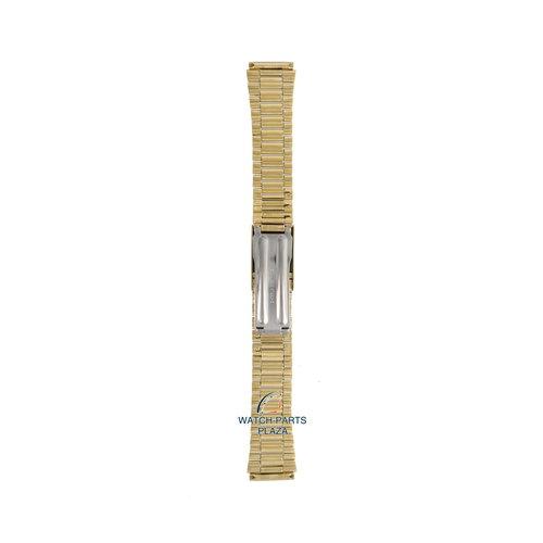 Seiko Seiko G1226G Pulseira de relógio 7009, 7S26 & 6309 dourado aço inoxidável 18 mm - 5