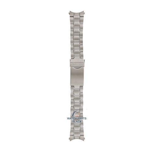Seiko Seiko M03M219J0 Cinturino dell'orologio SNDC41 / SNDC53 grigio acciaio inossidabile 20 mm - Chronograph