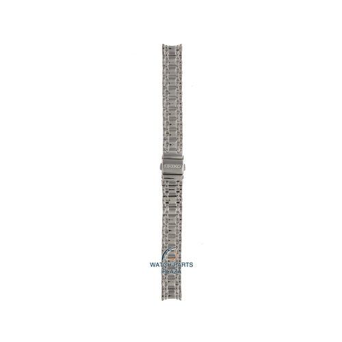 Seiko Seiko M0R8112J0 Pulseira de relógio SRZ383 - 7N01 cinza aço inoxidável 13 mm - Quartz