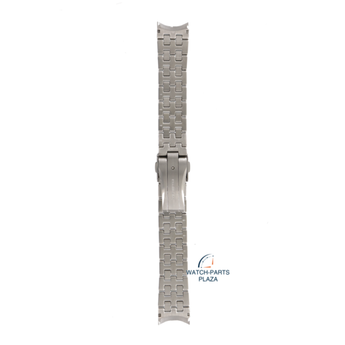 Seiko Seiko M0NB111J0 Pulseira de relógio 4R39, 7D48 Kinetic Perpetual cinza aço inoxidável 20 mm - Premier