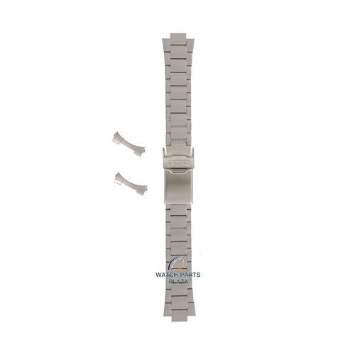 Seiko Seiko 44Z9JG Cinturino dell'orologio SGD44 - 7N42 8070 grigio acciaio inossidabile 20 mm - Military