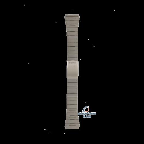 Seiko Seiko Z1415S Cinturino dell'orologio H601 521A - Dual Time grigio acciaio inossidabile 20 mm - Digital