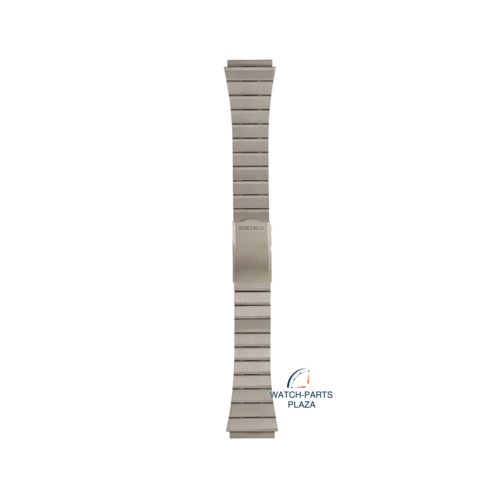Seiko Seiko B1338S Watch band 6347 6000 grey stainless steel 20 mm - Moonphase