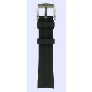 Tissot Tissot T066407 Seastar 1000 Horlogeband Zwart Siliconen 19 mm