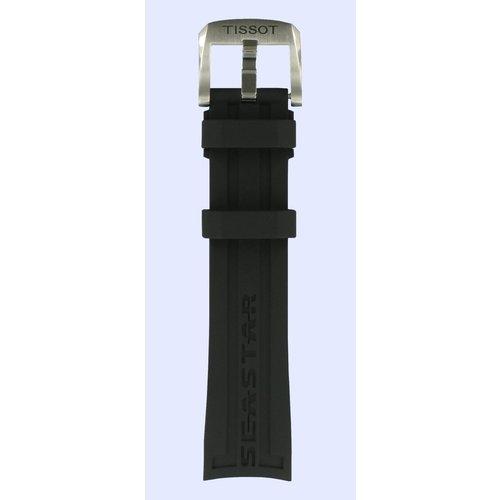 Tissot Tissot T066407 Seastar 1000 Watch Band Black Silicone 19 mm