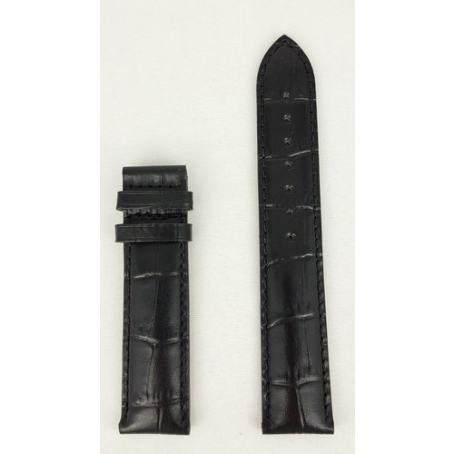 Tissot Tissot T014430, T17152 Watch Band Black Leather 19 mm