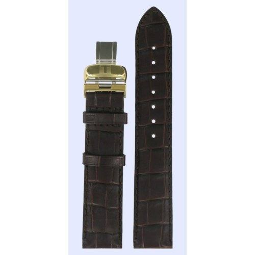 Tissot Tissot T006407A, T4154 Watch Band Brown Leather 19 mm
