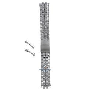 Seiko Seiko 5M23 6B70 / 6B73 Horlogeband Grijs Roestvrijstaal 20 mm