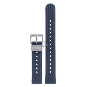 Seiko Seiko SBEX015 55th Anniversary LE Horlogeband Blauw Siliconen 19 mm
