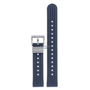 Seiko Seiko SBEX015 55th Anniversary LE Uhrenarmband Blau Silikon 19 mm