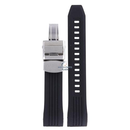 Seiko Seiko SSE015 Solar GPS Watch Band Black Silicone 22 mm