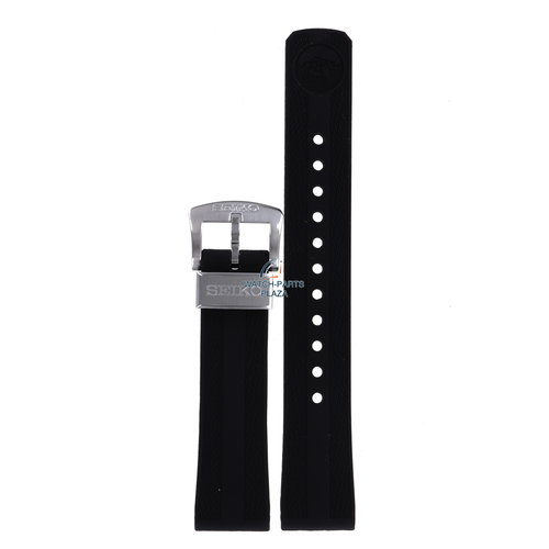 Seiko Seiko SPB147 & SPB151 62MAS Horlogeband Zwart Siliconen 20 mm