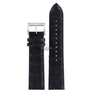 Seiko Seiko LOOF H 22 - SKA573 & SNE371 Bracelet De Montre Noir Cuir 22 mm